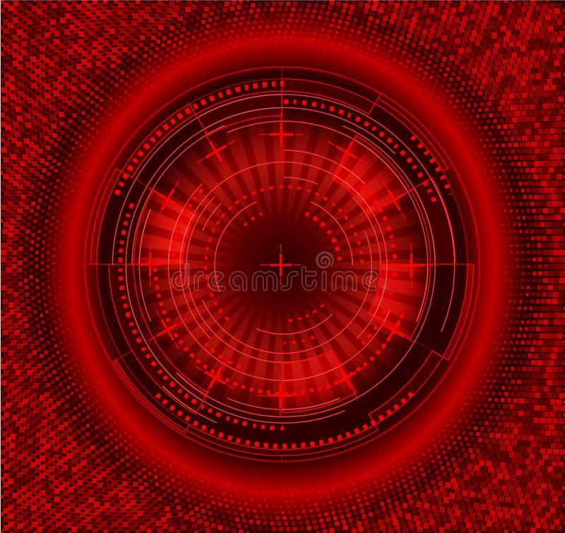 未来派接口圈子 techno例证 皇族释放例证