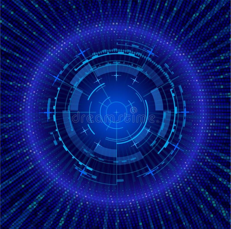 未来派接口漏斗 techno例证 库存例证