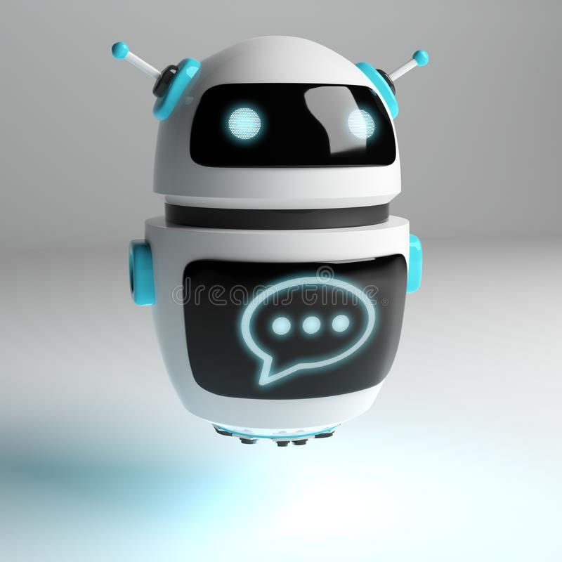 未来派数字式chatbot 3D翻译 皇族释放例证