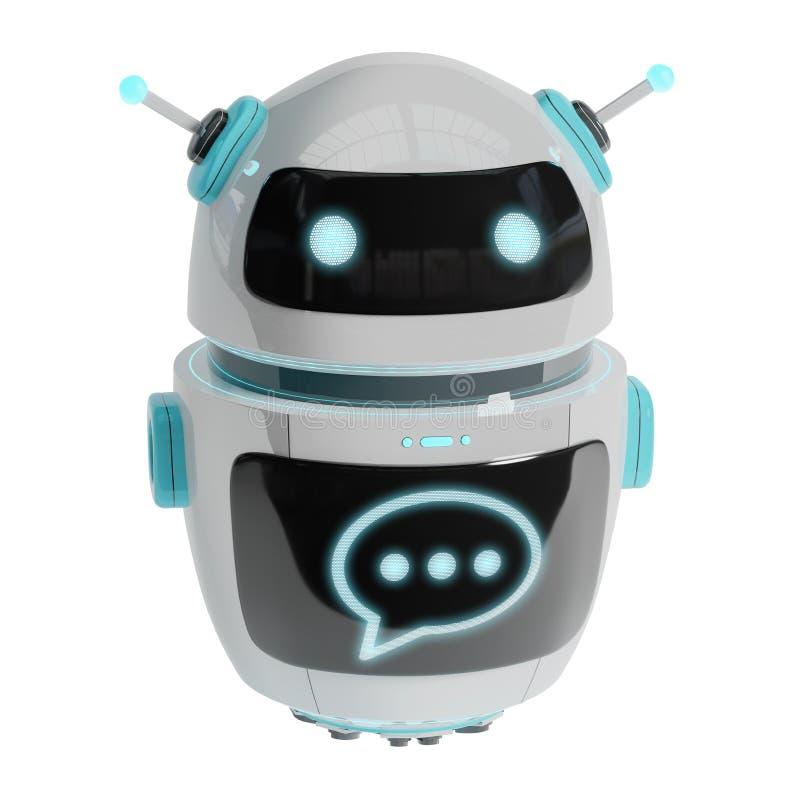 未来派数字式chatbot 3D翻译 库存例证
