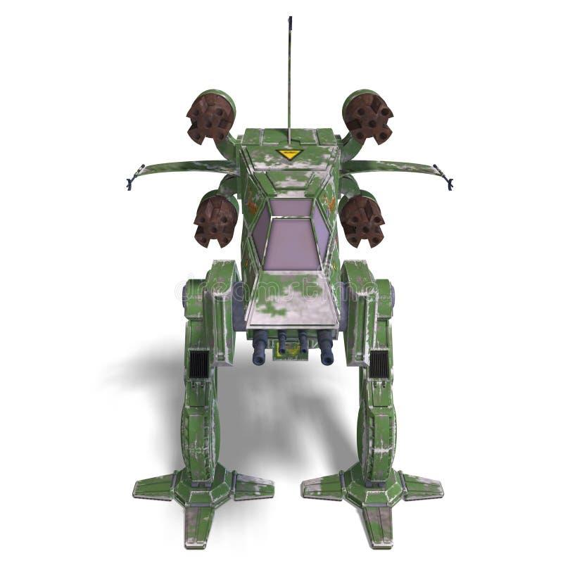 未来派机器人科学幻想小说太空飞船&# 皇族释放例证