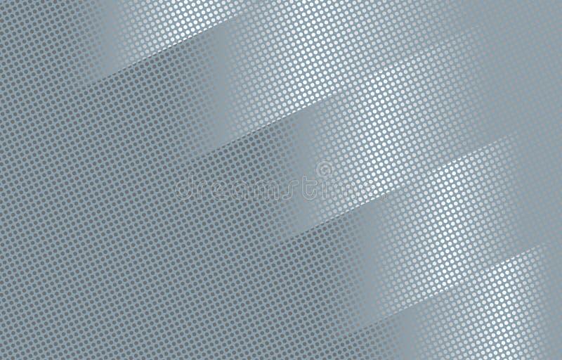 未来派灰色抽象半音盖子设计 向量例证