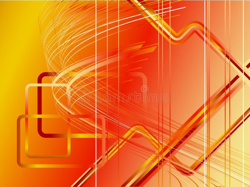 未来派现代红色向量 向量例证