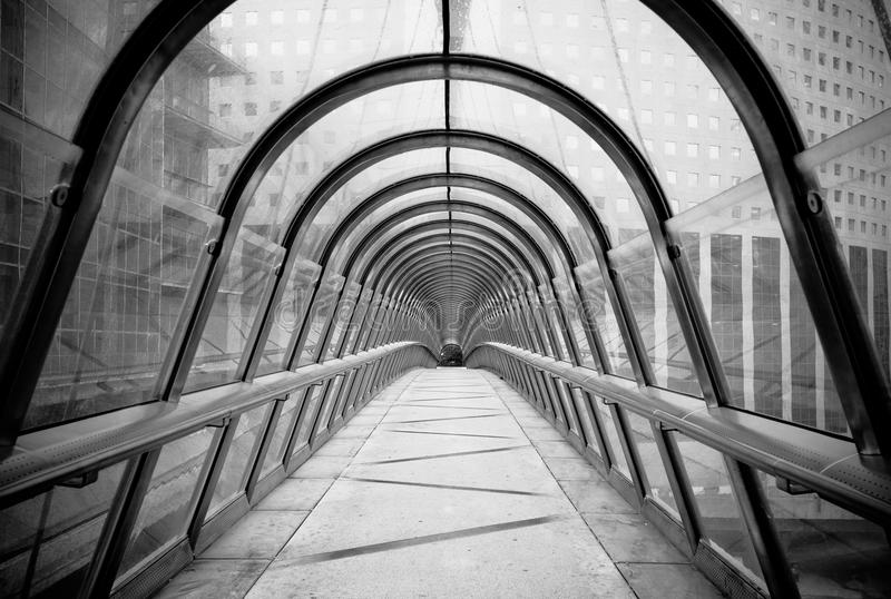 未来派玻璃隧道 免版税库存照片