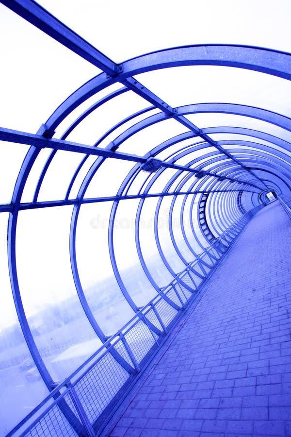 未来派玻璃隧道 免版税库存图片