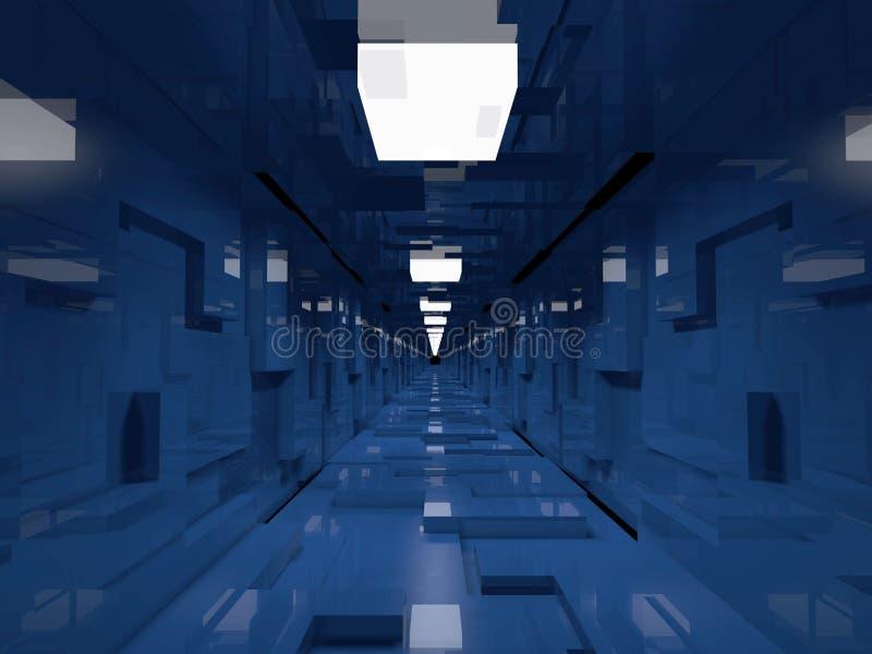 未来派的走廊 向量例证