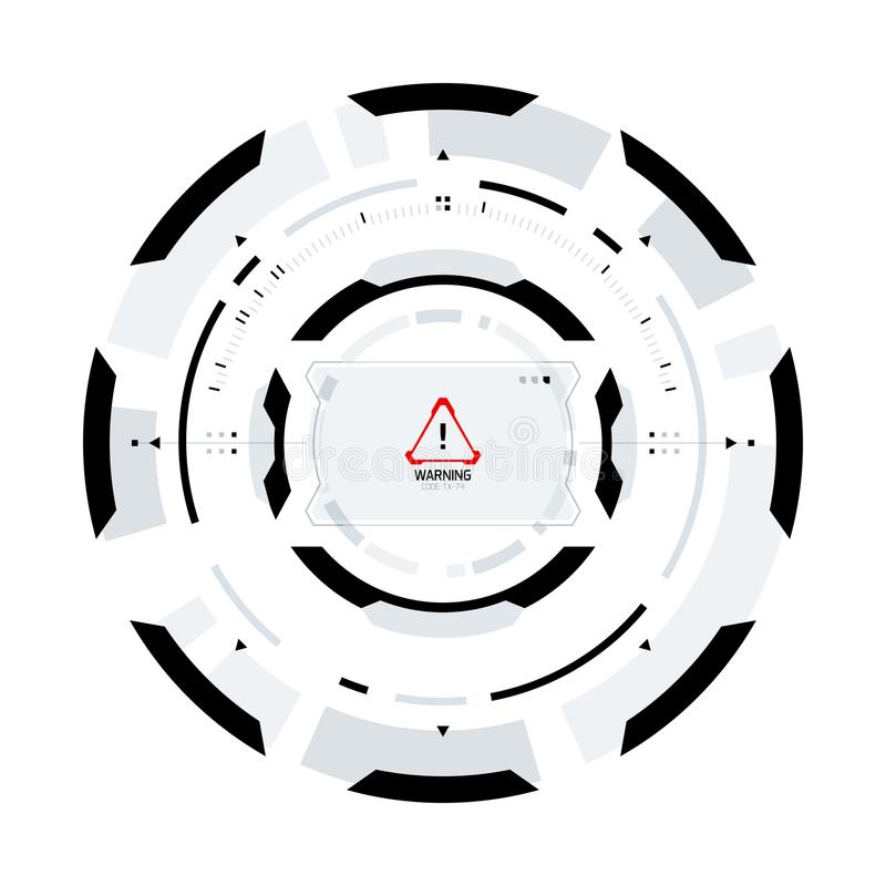 未来派科学幻想小说圆HUD元素 库存例证