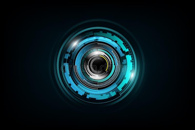未来派科学幻想小说技术样式概念背景 库存例证