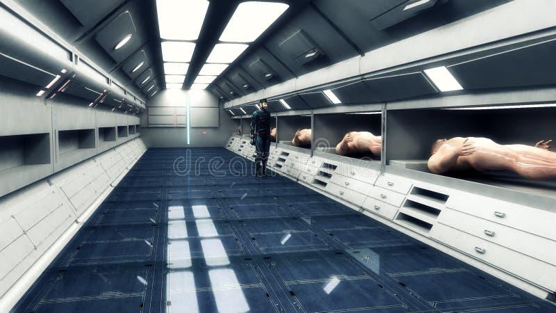 未来派空的内部走廊