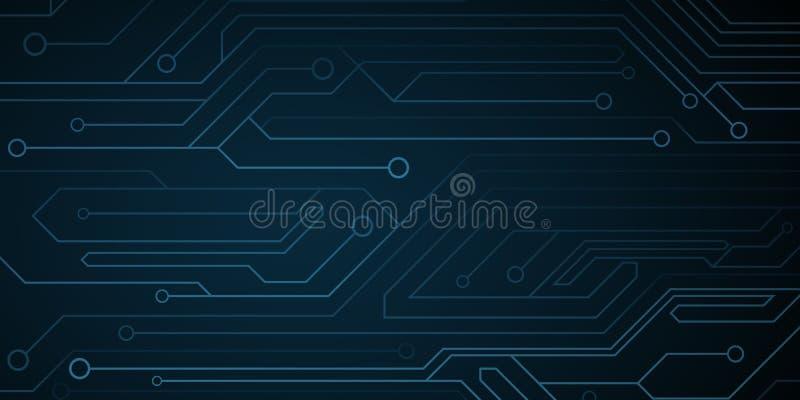 未来派网络计算机电路背景 电路板 电子网络 r 向量例证