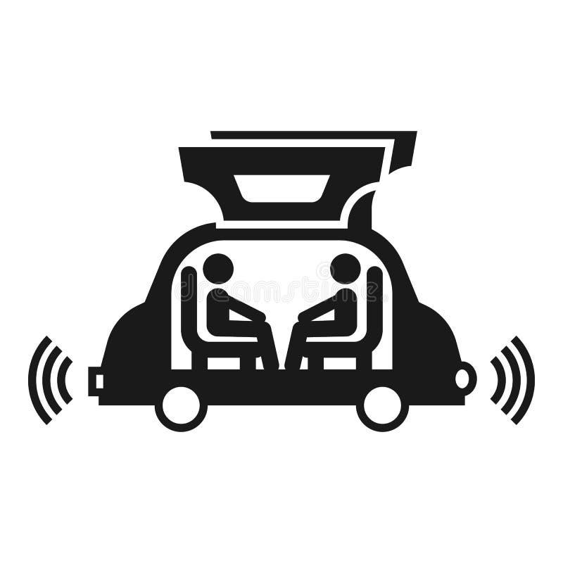未来派自动驾驶仪汽车象,简单的样式 向量例证