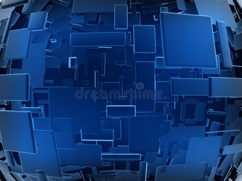 未来派蓝色的建筑 免版税图库摄影