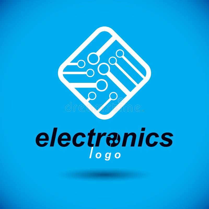 未来派计算机控制学的计划,传染媒介主板 数字式elemen 库存例证