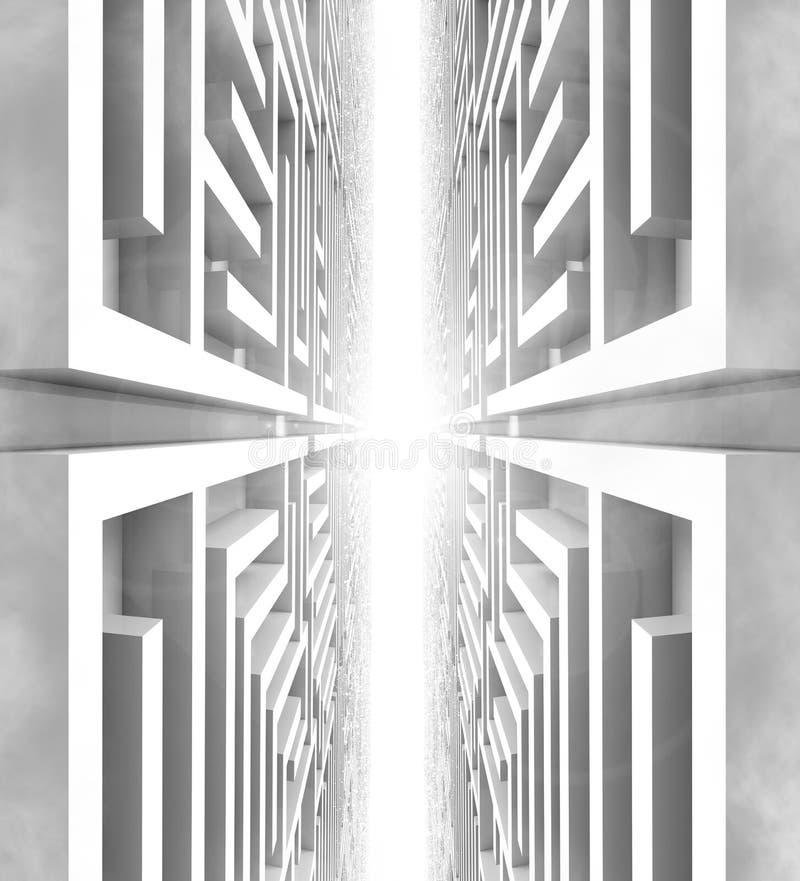 未来派迷宫世界 向量例证
