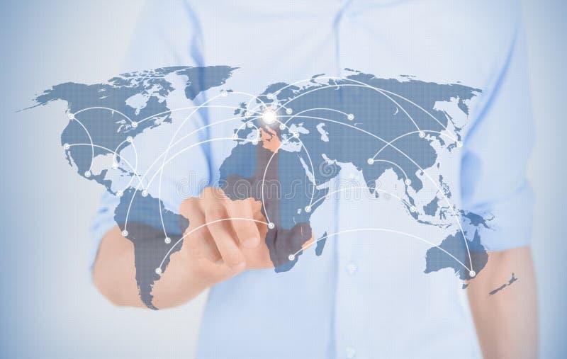 未来派通信概念 免版税库存图片