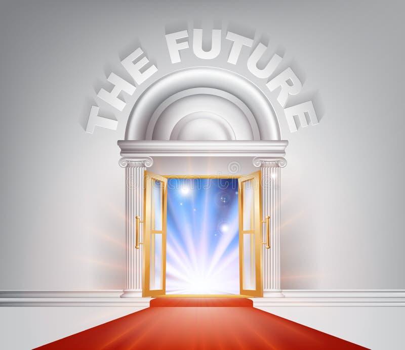 未来隆重的门 向量例证