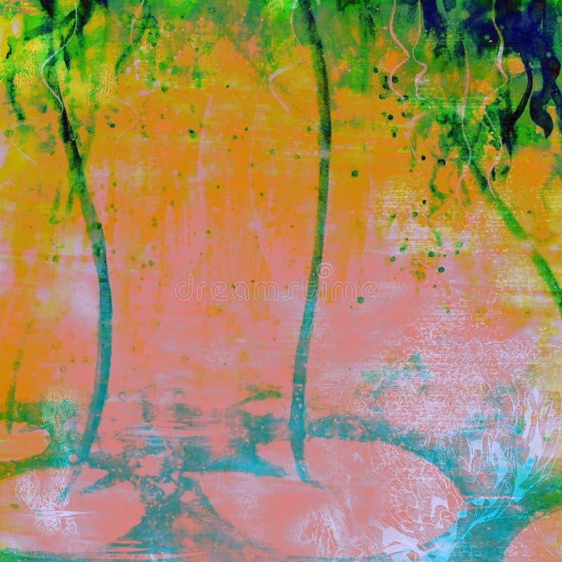 未来派充满活力的水滴水彩难看的东西背景纺织品 库存图片