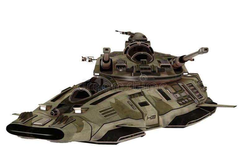 未来派反地心引力的坦克 向量例证