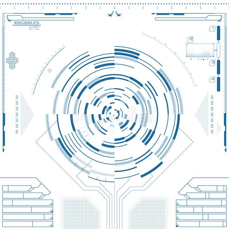 未来派图表用户界面 向量例证