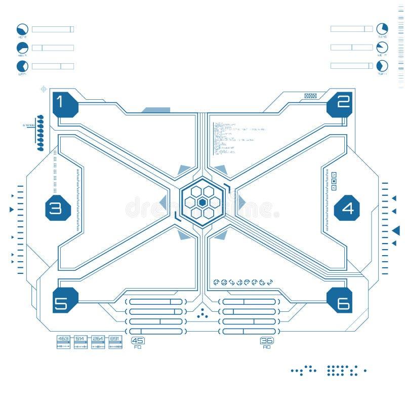 未来派图表用户界面 皇族释放例证