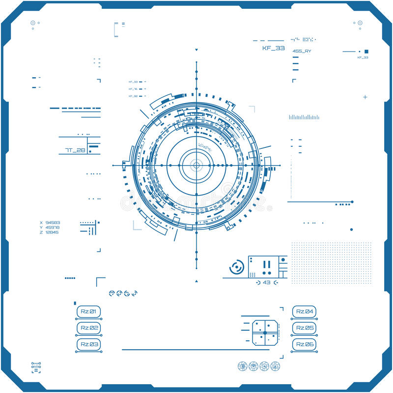 未来派图表用户界面 库存例证