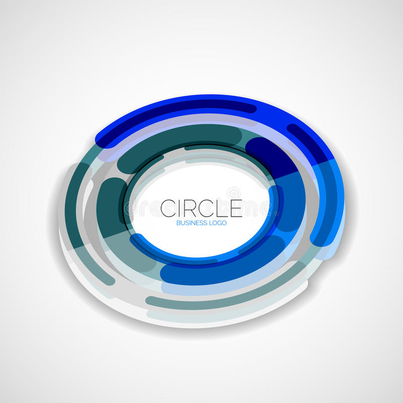 未来派圆环,公司商标, 3d设计 向量例证