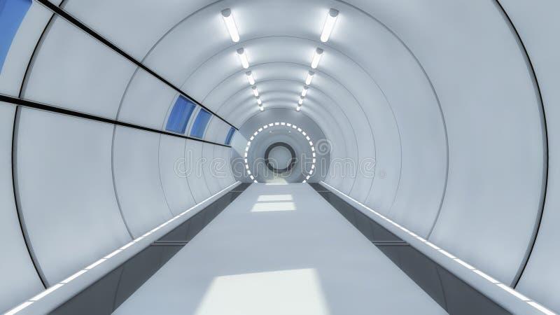 未来派大厅外籍人太空飞船 库存照片