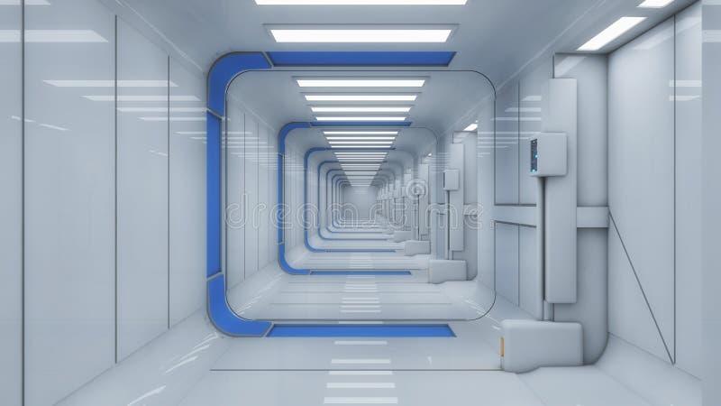 未来派大厅外籍人太空飞船 免版税库存图片