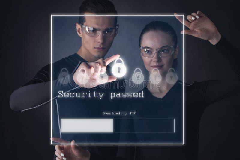 未来派安全概念 免版税库存照片