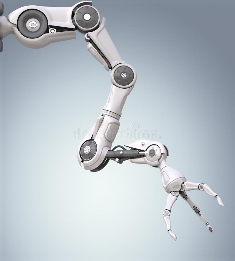 未来派机器人胳膊 库存例证