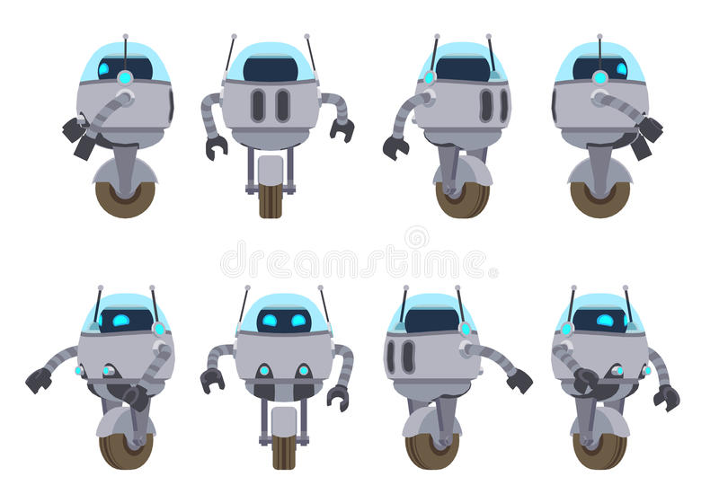 未来派机器人 皇族释放例证