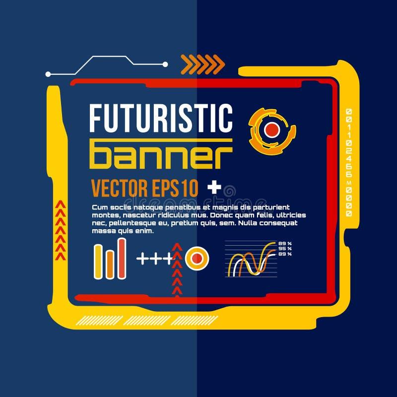 未来派横幅,现代techno背景 接口传染媒介eps 10 向量例证