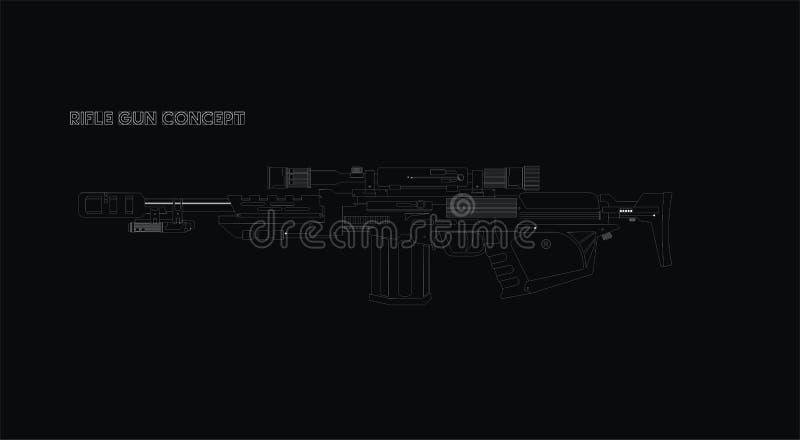 未来派步枪枪传染媒介 免版税库存照片