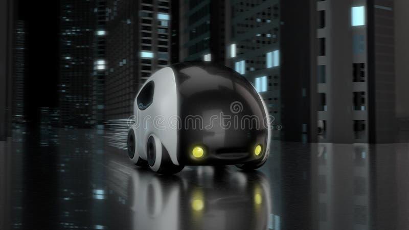 未来派汽车设计- 3D例证 库存例证