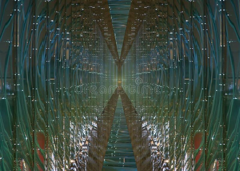未来派玻璃隧道 库存图片