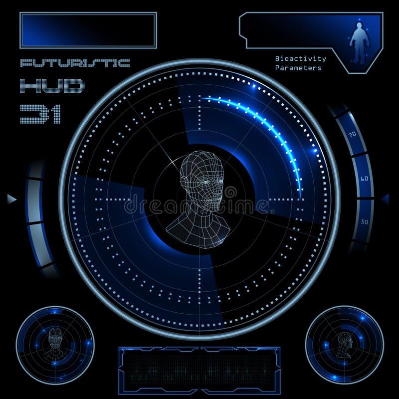未来派用户界面HUD 向量例证