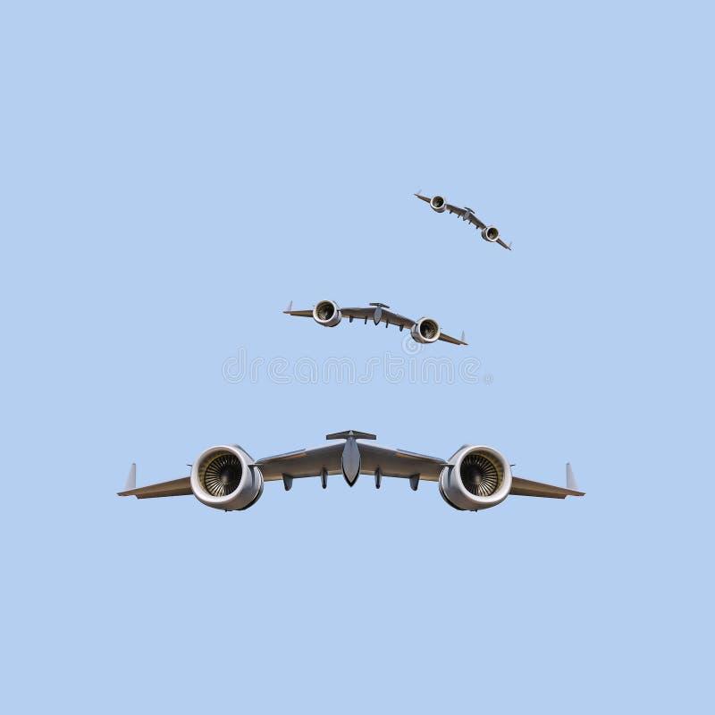 未来派空运 免版税库存图片