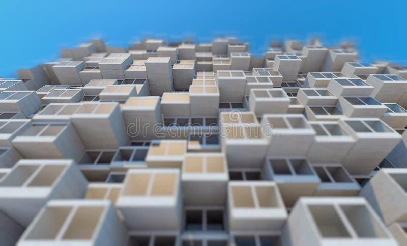 未来建筑学 编译未来派 编译现代 未来概念 皇族释放例证