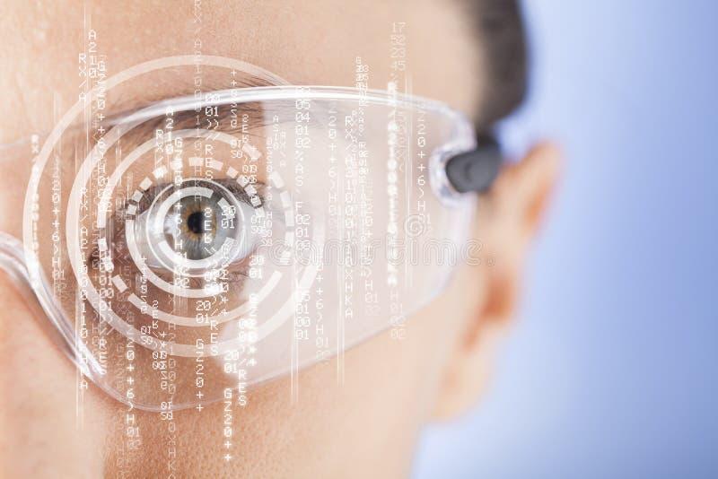 未来派聪明的玻璃 库存图片