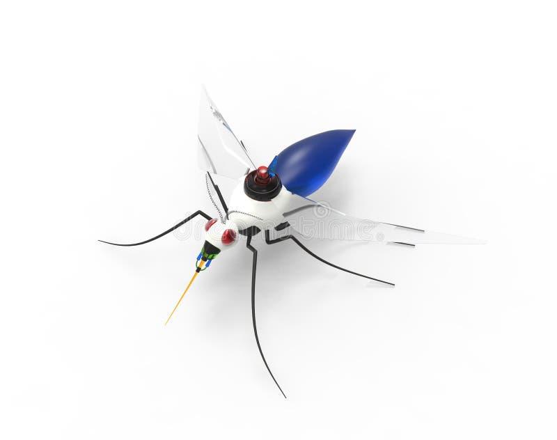 未来派蚊子纳诺机器人 皇族释放例证