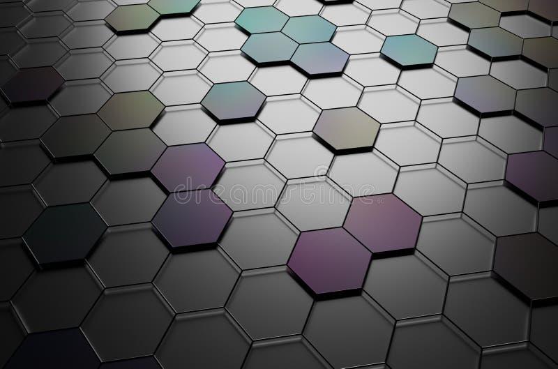 未来派表面抽象3d翻译与 库存例证
