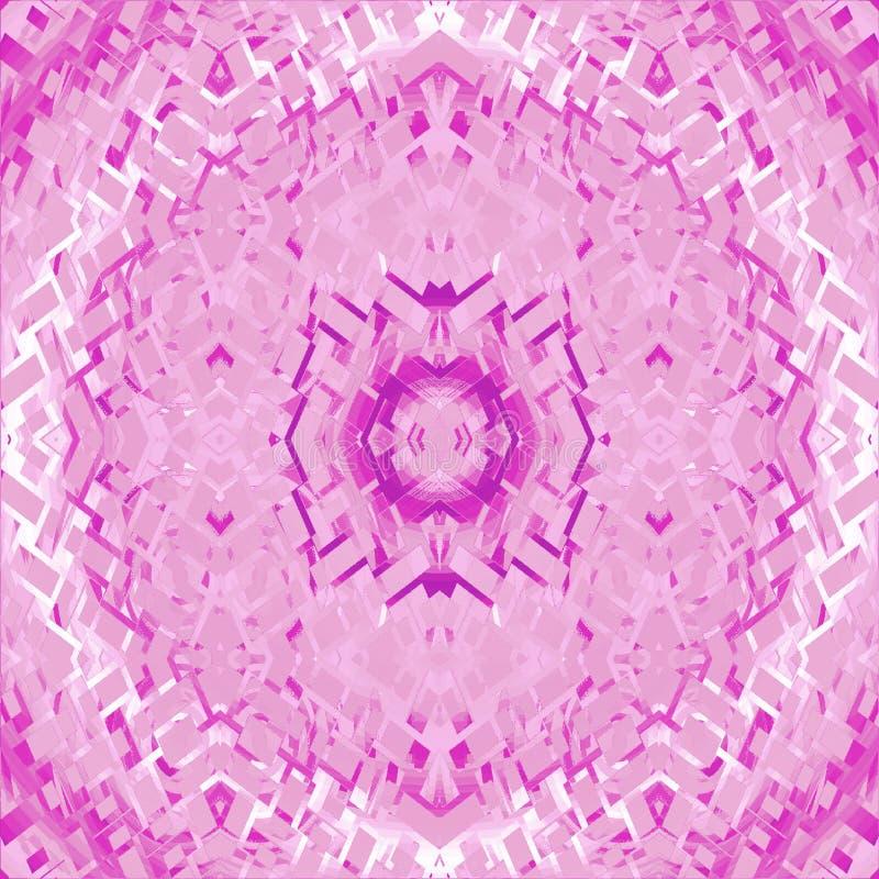 未来派装饰品桃红色白色紫罗兰 皇族释放例证