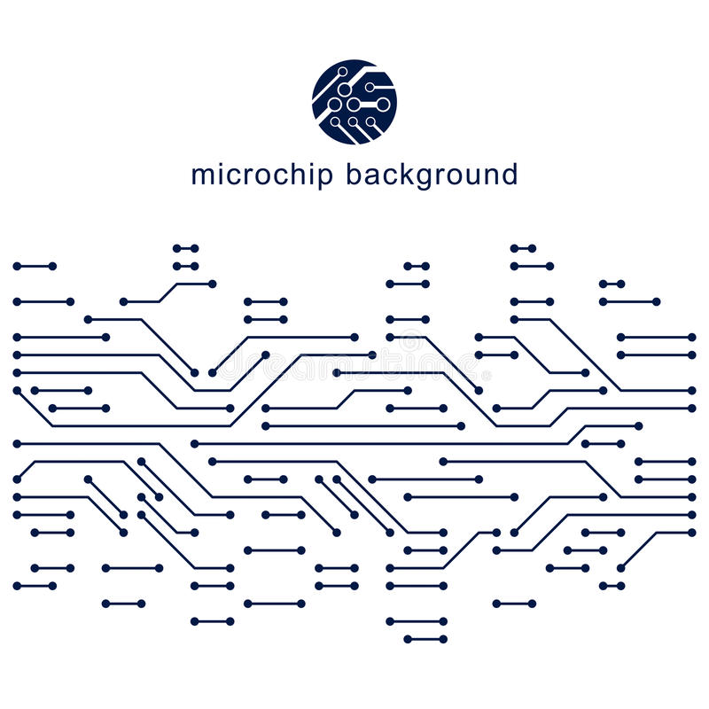 未来派计算机控制学的计划,传染媒介主板例证 库存例证