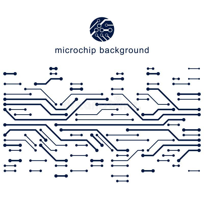 未来派计算机控制学的计划,传染媒介主板例证 d 向量例证