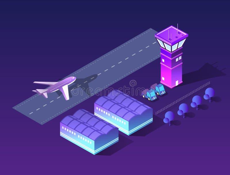 未来3d等量机场 库存例证