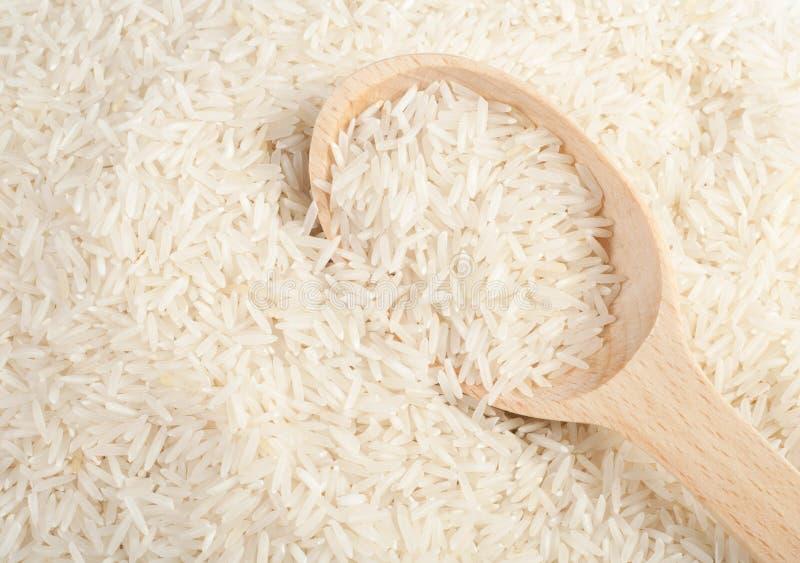 未煮过的印度大米 免版税库存照片