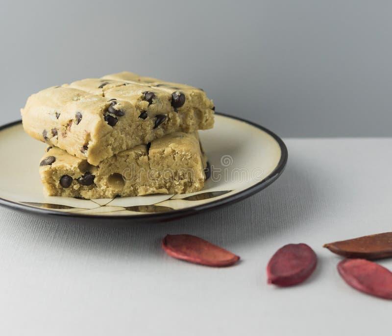 未煮过的曲奇饼面团 图库摄影