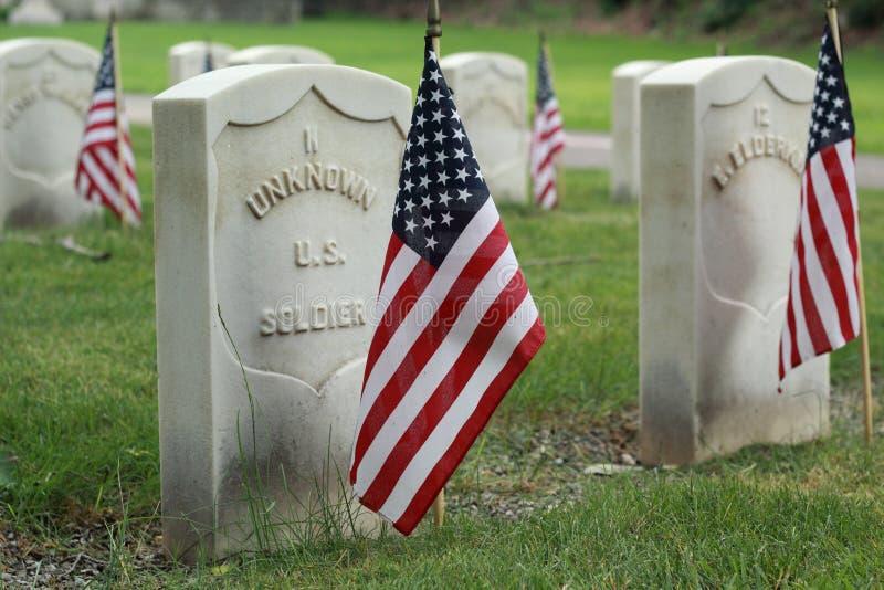 未知的美国战士 免版税图库摄影