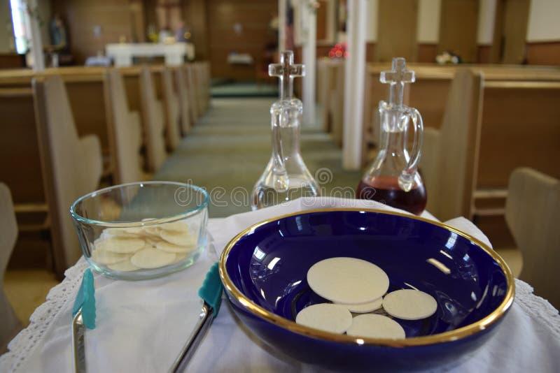 未被视为圣神的圣餐提供的礼物 库存图片