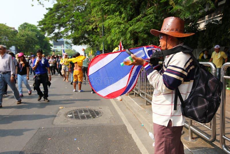 未认出的反政府抗议者 图库摄影